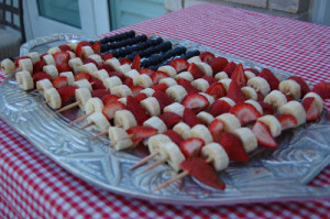 flag fruit kabobs for july 4th