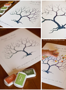 fingerprint tree fall tree crafts for kids