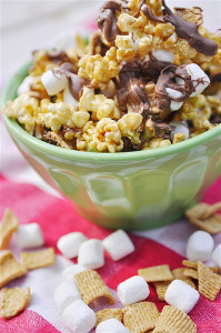 s'more popcorn 30 handmade days