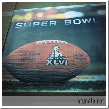 Super Bowl 46 Banner Indianapolis IN
