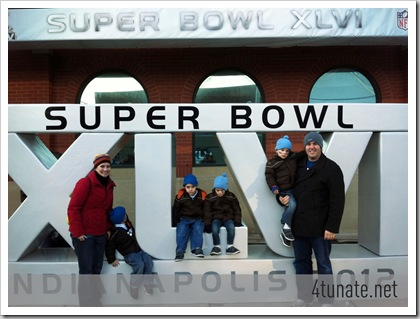 Super Bowl 46 Sign Group Picture