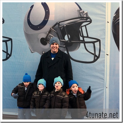 cheering for colts at superbowl village indianapolis