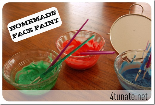 easy homemade face paint recipe