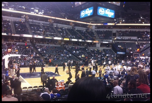 lower level seats 17th row pacer's game tickets