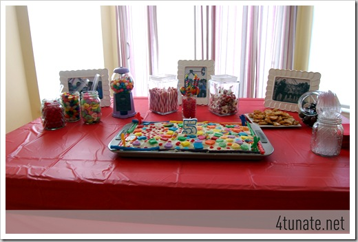candy land candy buffet birthday party