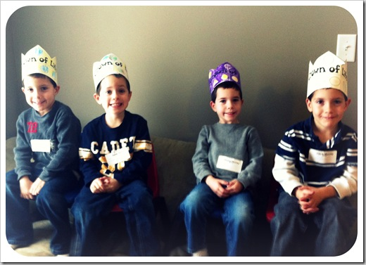 quadruplet boys fifth birthday