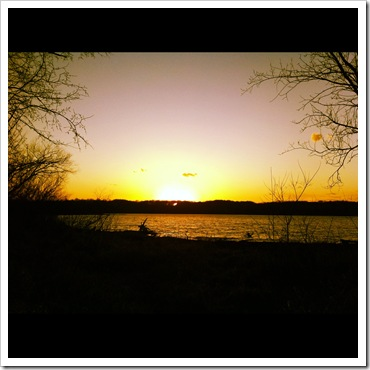eagle creek park sunset scenery