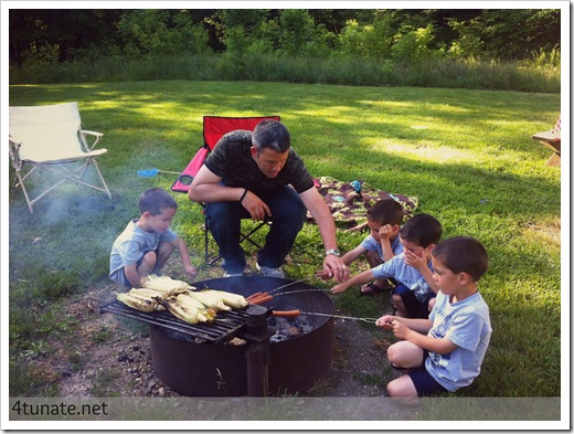 camping with kids at turkey run state park