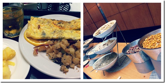 complimentary breakfast and reception food at embassy suites collage