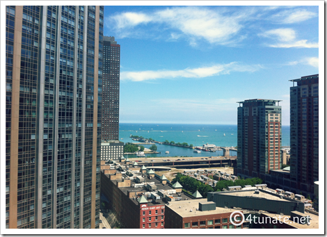 navy pier highrise view downtown chicago