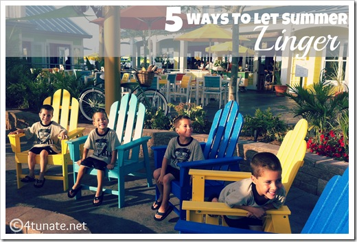 5 ways to let summer linger