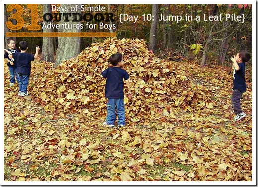 Day 10 Jump in A Leaf Pile Siimple Outdoor Adventures for Boys