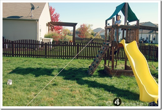 outdoor zipline for kids
