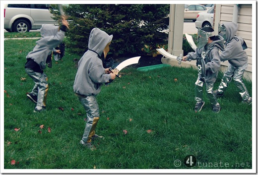 knight and shining armors fighting halloween