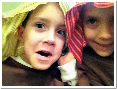 lowly shepherds in christmas play