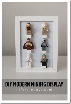 diy lego mini figure display