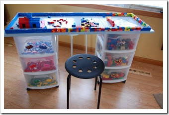 diy lego table plus storage