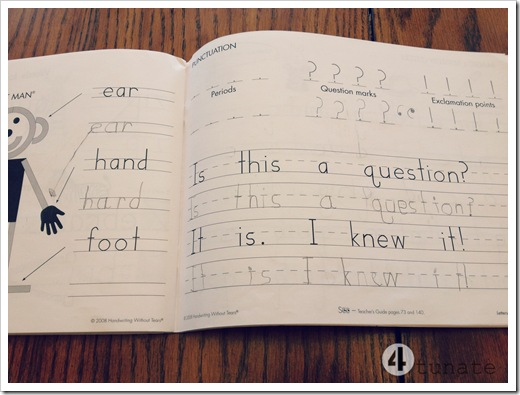 handwriting without tears homeschool kindergarten