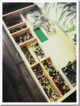 lego under the bed customized storage