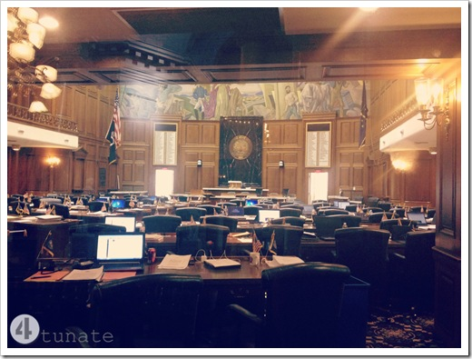 visiting the indiana state house with kids