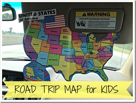road trip map for kids