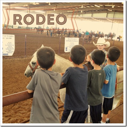 adventures with kids going to a rodeo