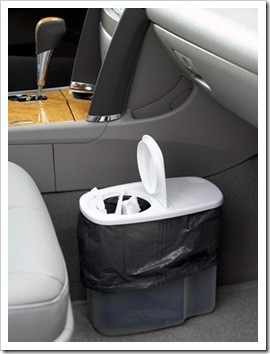 cereal container trash can for car