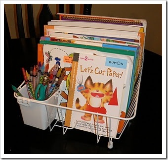 dishrack coloring book sorter