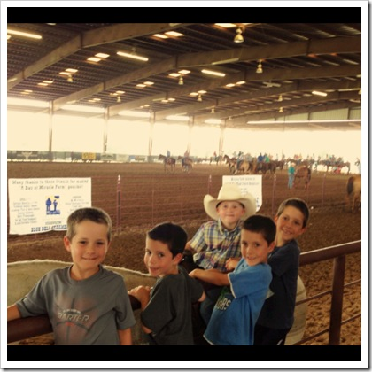 taking kids to a rodeo