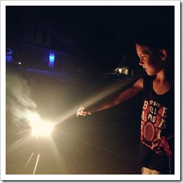 4th of july holding sparklers