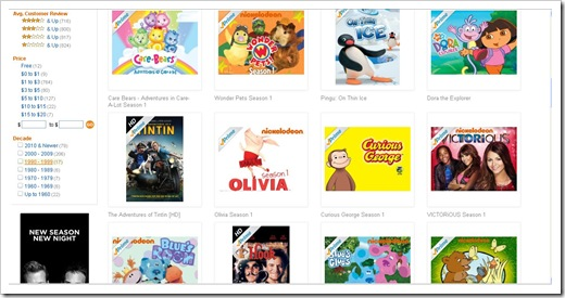 amazon prime instant downloads kids and family