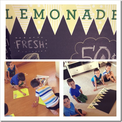 chalkborad lemonade stand signs