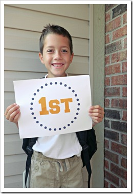 1st day of 1st grade - brooks