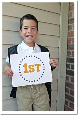 1st day of 1st grade henry