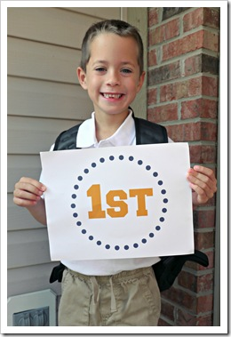 1st day of 1st grade - isaac