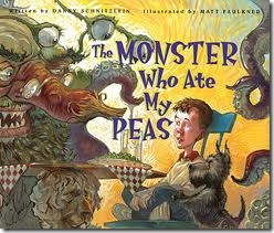 favorite library books - The Monster Who Ate My Peas
