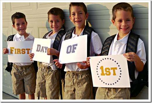 on the first day of 1st grade