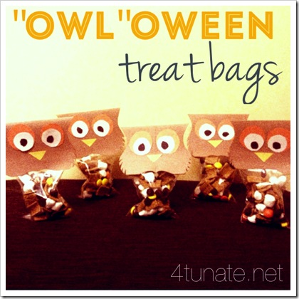 owl treat bags for halloween