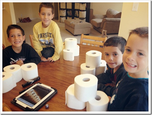 making toilet paper ghosts game