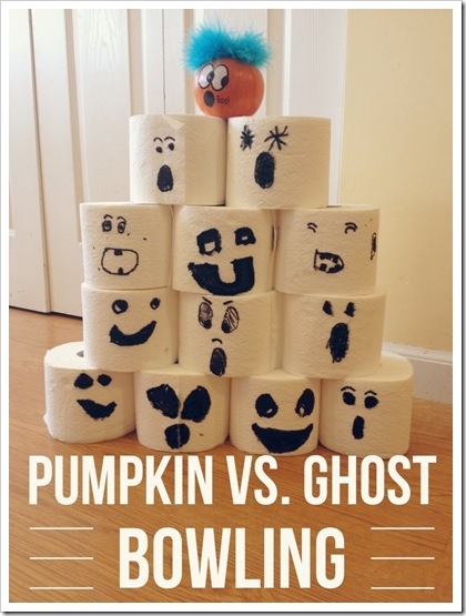 pumpkin vs. ghost bowling halloween game