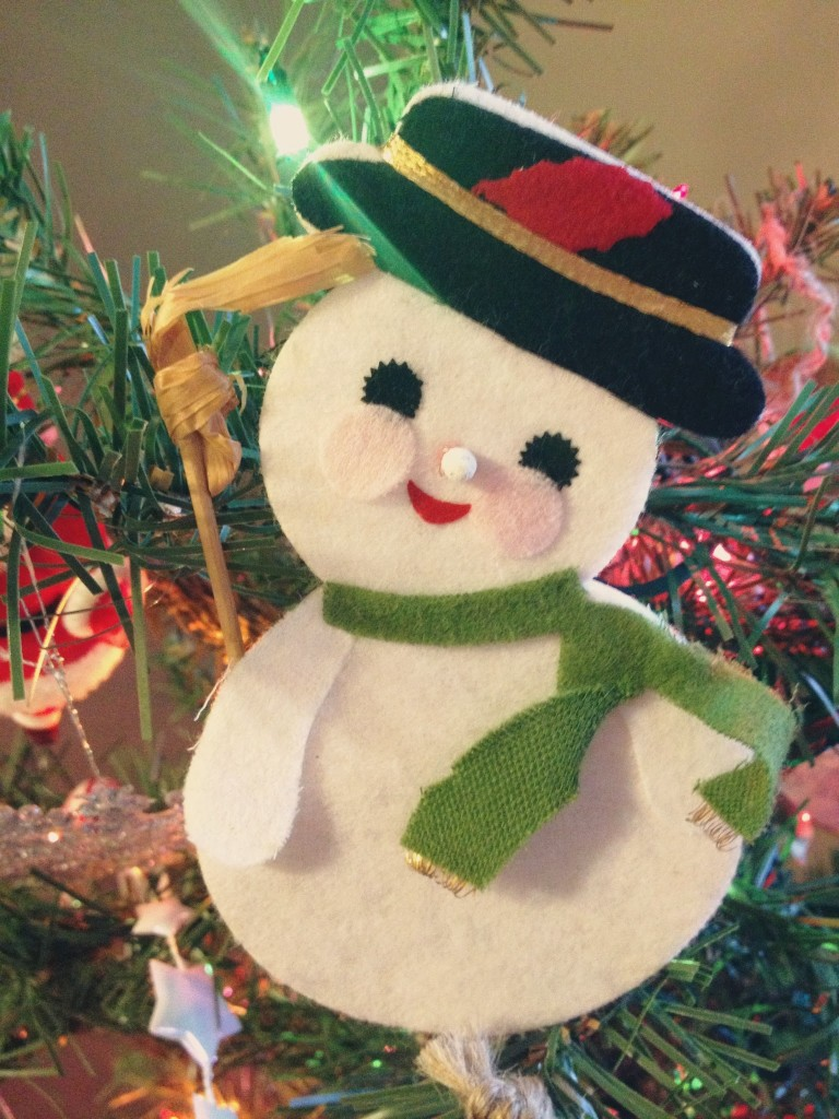 frosty the snowman vintage christmas ornament