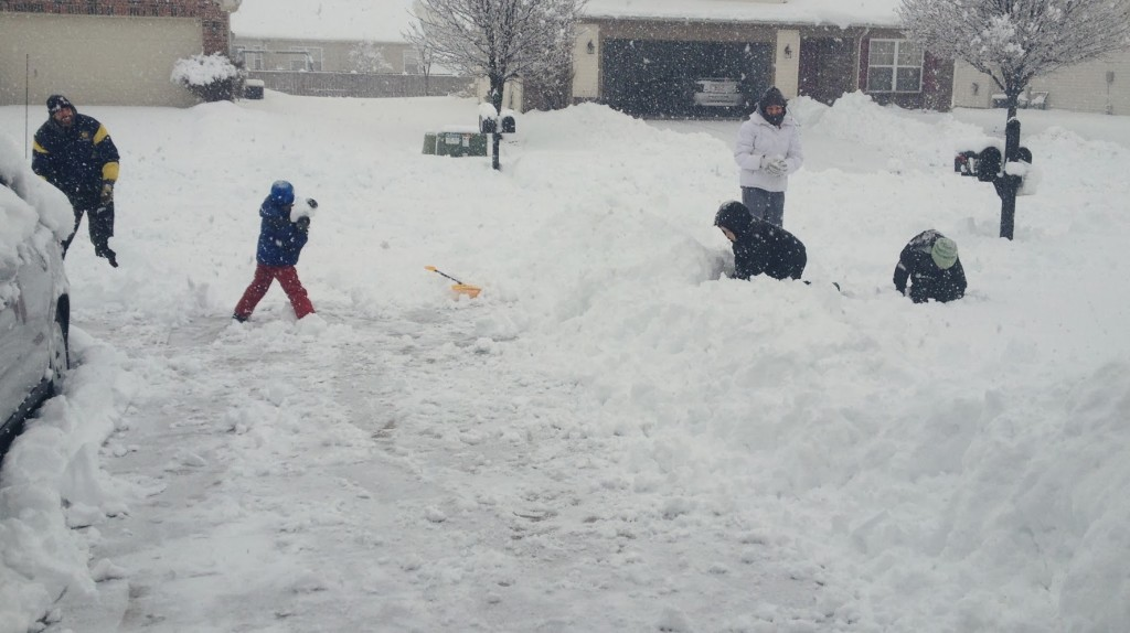 playing in snowmageddon