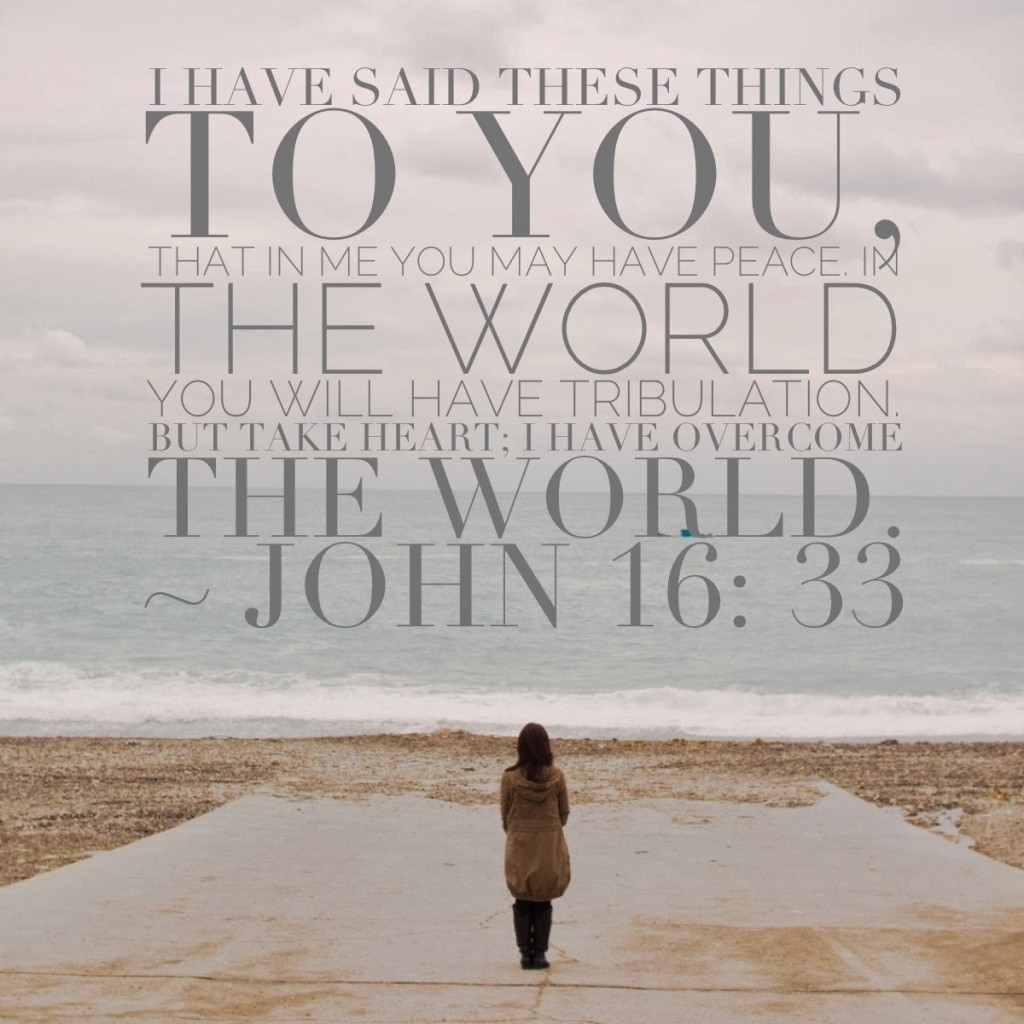 john 16 33 i have overcome the world
